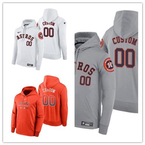 Men Custom Pullover Hoodie White, Gray, Orange
