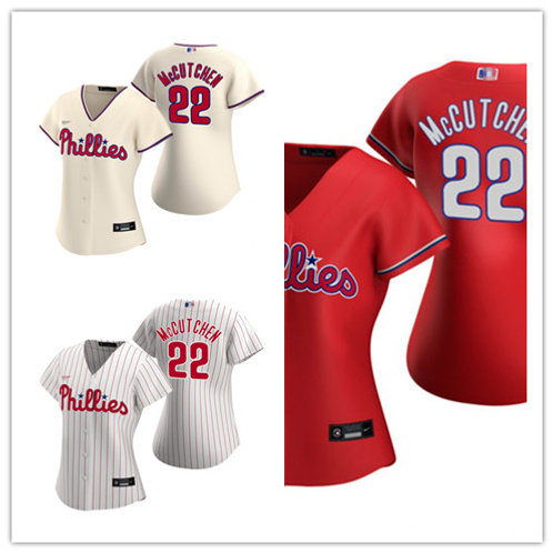 Women Andrew Mccutchen 2020/21 Replica White, Cream, Red