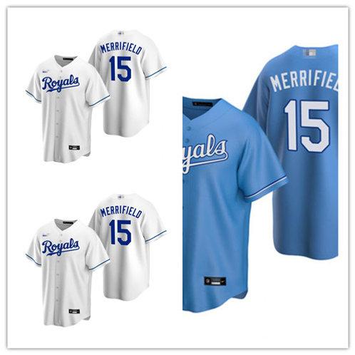 Men Whit Merrifield 2020/21 Replica White, Light Blue