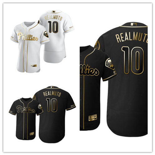 Men J.T. Realmuto Flex Base White Golden, Black Golden