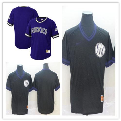 Men Blank Cooperstown Purple, Black