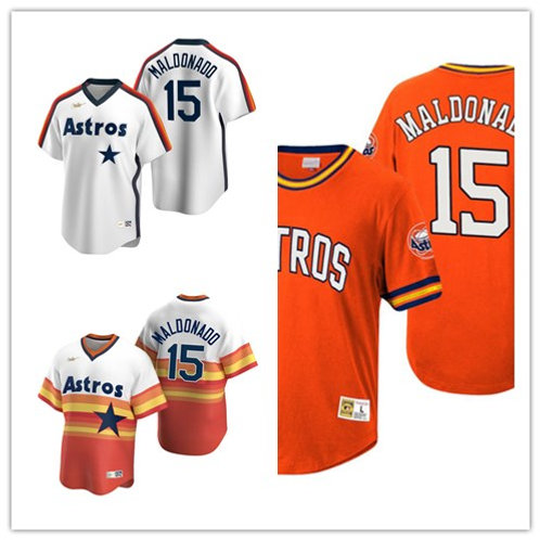 Men Martin Maldonado Cooperstown White, Orange