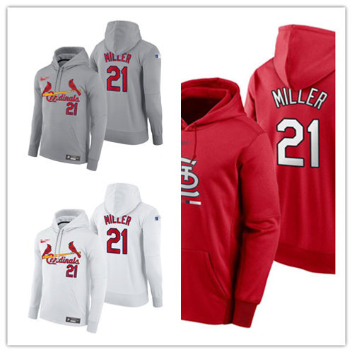 Men Andrew Miller Pullover Hoodie White, Gray, Red