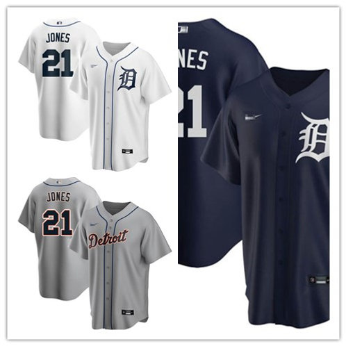 Men JaCoby Jones 2020/21 Replica White, Gray, Navy Blue