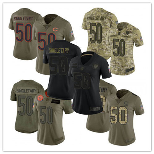 Women Mike Singletary Limited Salute to Service Olive, Camo, Black