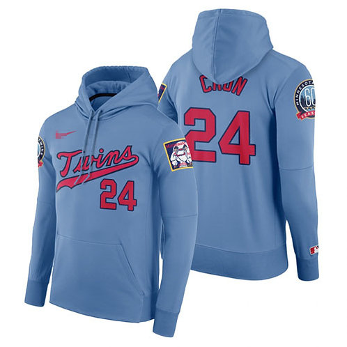 Men Josh Donaldson Pullover Hoodie Light Blue