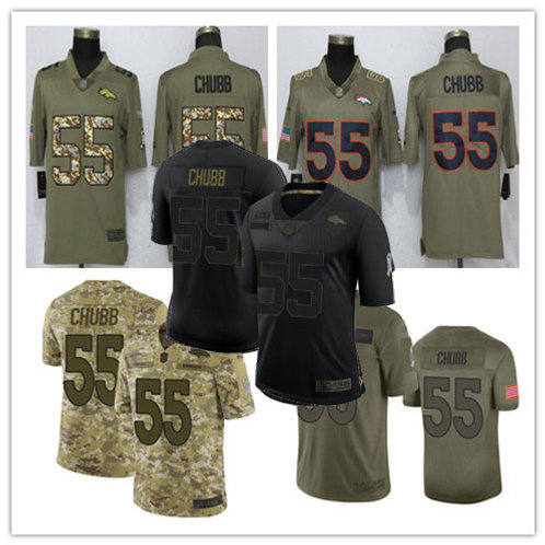 Men Bradley Chubb Limited Salute to Service Olive, Camo, Black