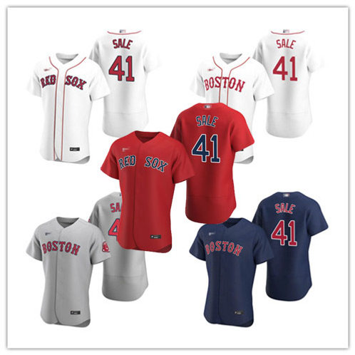 Men Chris Sale 2020/21 Authentic White, Gray, Scarlet, Navy Blue