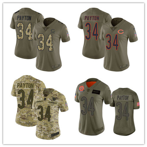 Women Walter Payton Limited Salute to Service Olive, Camo