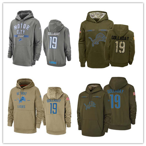 Men Kenny Golladay Salute to Service Hoodie Olive, Gray, Khaki