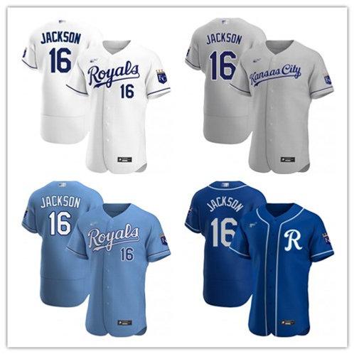 Men Bo Jackson  2020/21 Authentic White, Gray, Light Blue, Royal Blue