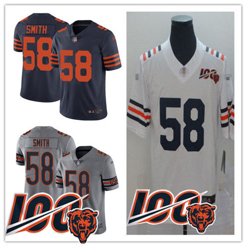 Youth Roquan Smith Limited Navy Rush, 100th Season White, Inverted