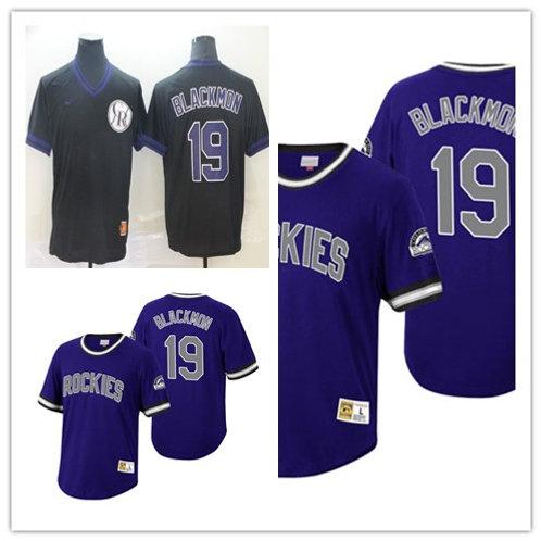Men Charlie Blackmon Cooperstown Purple, Black