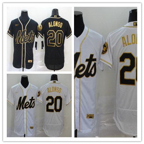 Men Pete Alonso Flex Base White Golden, Black Golden