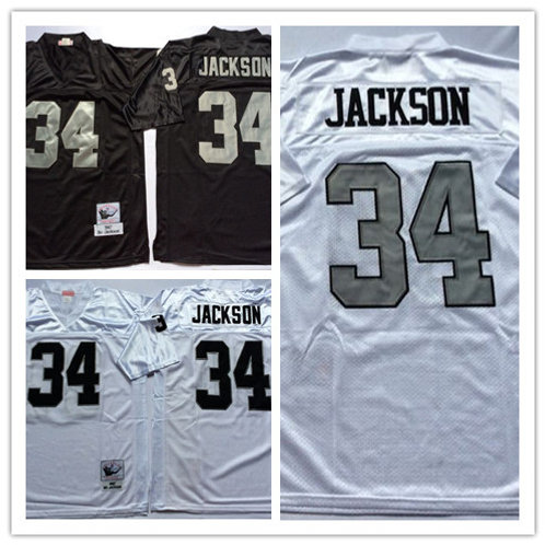 Men Bo Jackson Throwback Black, White