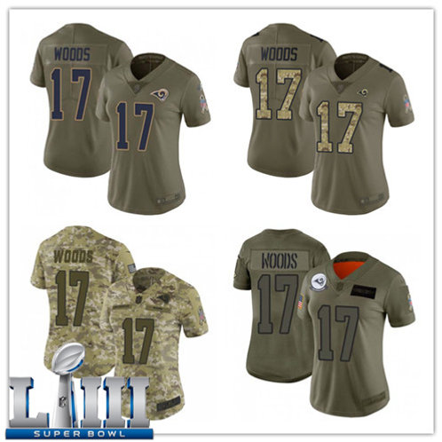 Women Robert Woods Limited Salute to Service Olive, Camo