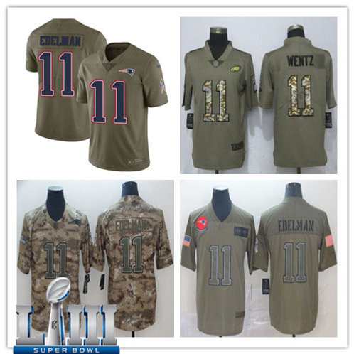 Youth Julian Edelman Limited Salute to Service Olive, Camo