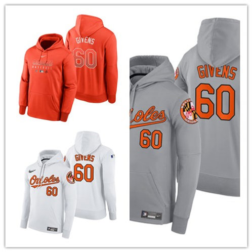 Men Mychal Givens Pullover Hoodie White, Gray, Orange