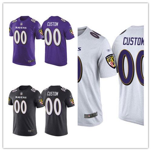 Men Custom T-Shirt Purple, White, Black