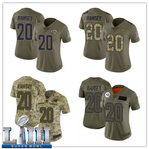 Women Jalen Ramsey Limited Salute to Service Olive, Camo
