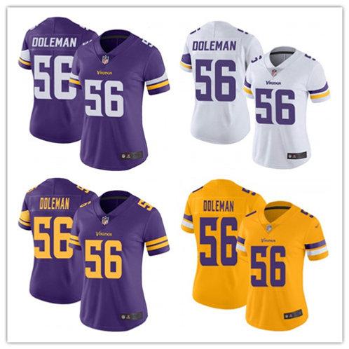 Women Chris Doleman Vapor Limited Purple, White, Color Rush, Gold