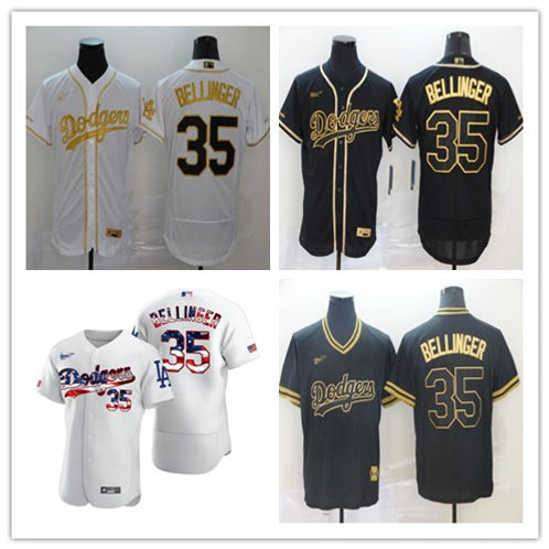 Men Cody Bellinger White Golden, Black Golden, White Fashion