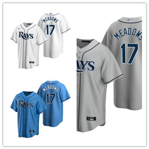 Men Austin Meadows 2020/21 Replica White, Gray, Light Blue
