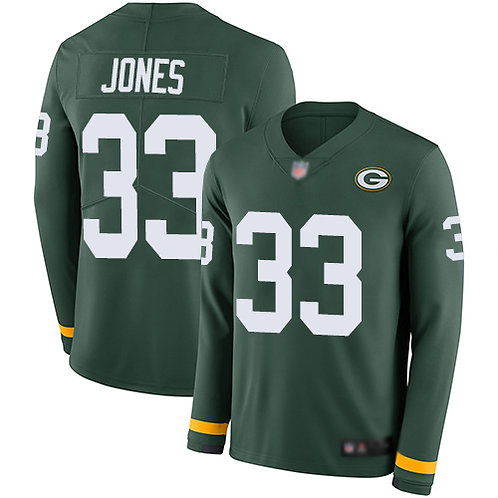 Men Aaron Jones Green Therma Long Sleeve