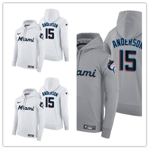 Men Brian Anderson Pullover Hoodie White, Gray