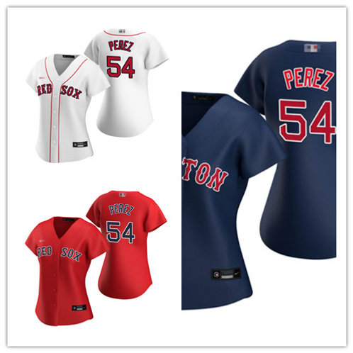 Women Martin Perez 2020/21 Replica White, Scarlet, Navy Blue