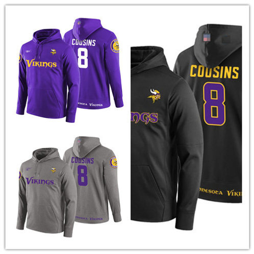 Men Kirk Cousins Hoodie Purple, Gray, Black