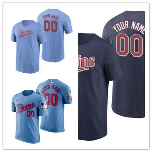 Men Custom T-Shirt Light Blue, Navy Blue