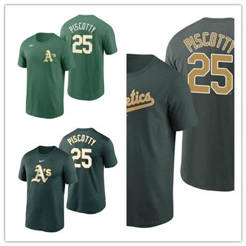 Men Stephen Piscotty T-Shirt Green
