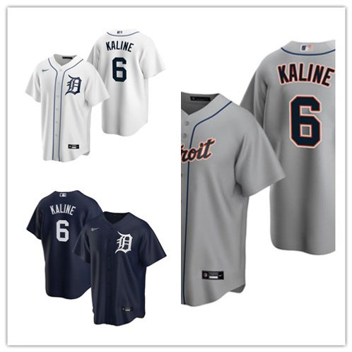 Men Al Kaline 2020/21 Replica White, Gray, Navy Blue