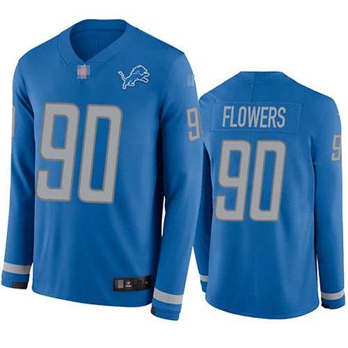 Men Trey Flowers Blue Therma Long Sleeve