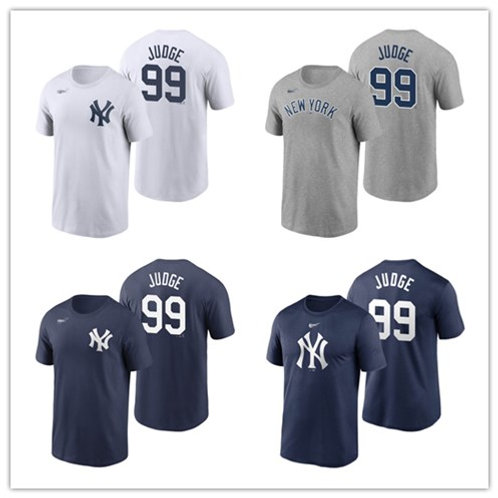 Men Aaron Judge T-Shirt White, Gray, Navy Blue