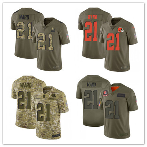 Youth Denzel Ward Limited Salute to Service Olive, Camo