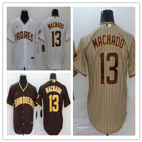 Men Manny Machado 2020/21 Replica White/Brown, Brown, Tan/Brown