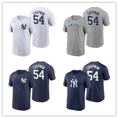 Men Aroldis Chapman T-Shirt White, Gray, Navy Blue