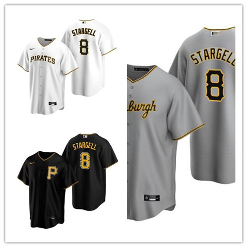 Youth Willie Stargell 2020/21 Replica White, Gray, Black