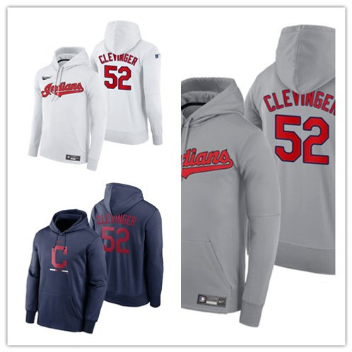 Men Mike Clevinger Pullover Hoodie White, Gray, Navy Blue