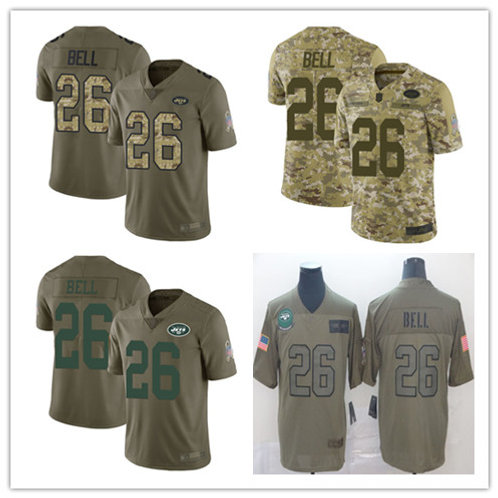 Youth Le'Veon Bell Limited Salute to Service Olive, Camo