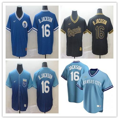 Men Bo Jackson Cooperstown Blue, Drift Fashion, Black/Golden
