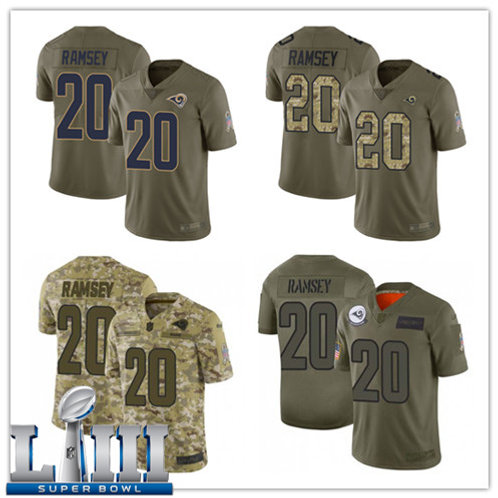 Youth Jalen Ramsey Limited Salute to Service Olive, Camo