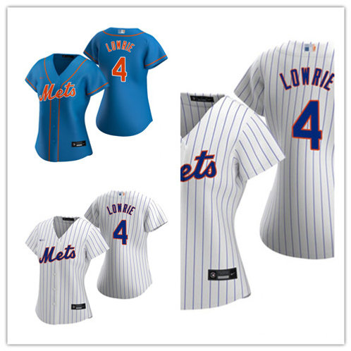 Women Jed Lowrie 2020/21 Replica White, Royal Blue