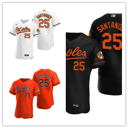 Men Anthony Santander 2020/21 Authentic White, Orange, Black