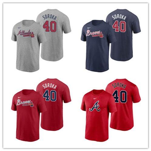 Men Mike Soroka Printing T-Shirt Gray, Scarlet, Navy Blue