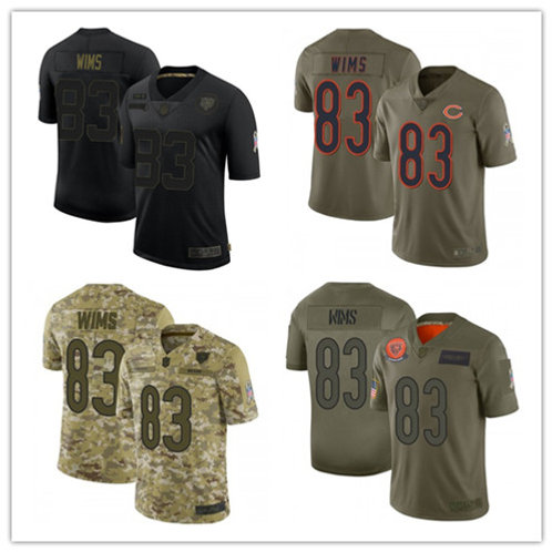 Youth Javon Wims Limited Salute to Service Olive, Camo, Black