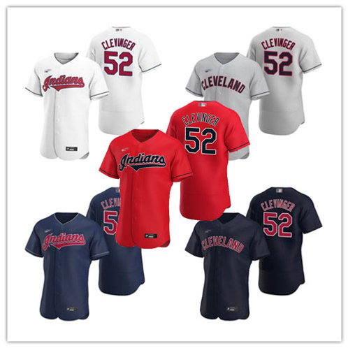 Men Mike Clevinger 2020/21 Authentic White, Gray, Scarlet, Navy Blue