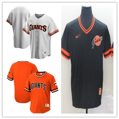 Men Blank Cooperstown White, Orange, Black